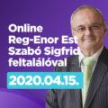 Online Reg-Enor Est április 15-én, a Platánusos esték folytatásaként, ezúttal Szabó Sigfrid feltalálóval