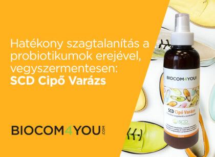 Hatékony szagtalanítás a probiotikumok erejével, vegyszermentesen: SCD Cipő Varázs