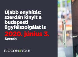 Újabb enyhítés: szerdán kinyit a budapesti ügyfélszolgálat is