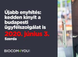 Újabb enyhítés: kedden kinyit a budapesti ügyfélszolgálat is