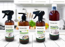 A takarítás új dimenziója környezetkímélő termékcsaláddal: mosógél, mosogató, szaniter tisztító, konyhai zsíroldó