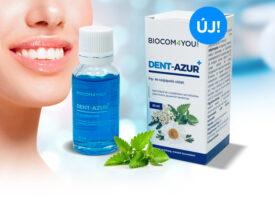 Vadonatúj íny- és szájápoló oldat a Biocomban: a DENT-AZUR+ a mindennapos szájhigiénia része
