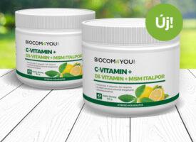 D-vitaminnal erősödik az MSM C, a finom italpor küllemében és nevében is megújul